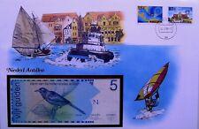 NIEDERLANDE Antillen Banknotenbrief ★★★ 5 Gulden 1986 Bankfrisch = unc. ★★★ 25
