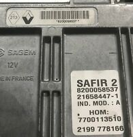 Calculateur décodé SAFIR 2 35 PINS Renault Clio Twingo 1.2 8200058537