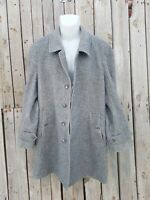 vintage man's Burberry Wool trench Coat Jacket  Size L gray