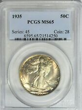 1935 Walking Liberty Half Dollar PCGS MS65 #PJ616