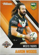 2017 NRL Traders Base Card (160) Aaron WOODS Wests Tigers