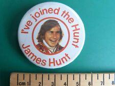 1970s James Hunt Fan Club Badge