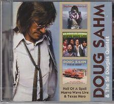 Doug Sahm - Hell of a Spell / Nuevo Wave (Live) / Texas Hero, 2CD Neu