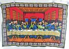 Vintage R.T.C. NY - Jesus Christ Last Supper - 100% Cotton Tapestry Wall Hanging