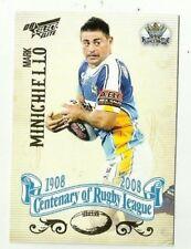2008 NRL SELECT CENTENARY GOLD COAST TITANS MARK MINICHIELLO #142 Card free post