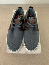 Tommy Bahama Men's Boat Shoes Size 9 D Blue and Brown Stripes Asunder New in Box