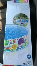 """New listing Intex Pool Snapset Above Ground Pool Kids 6 ft x 15"""" Blue"""