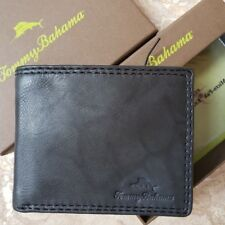 NWT Tommy Bahama Mens Jamaica Billfold Leather Wallet Black Free Ship