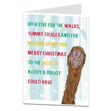 Christmas Card From The Dog Funny For Husband Wife Mum Dad Boyfriend Girlfriend