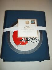 Pottery Barn Teen NFL Patch Duvet Cover Twin Cleveland Browns Navy #341
