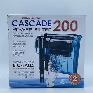 Cascade Hang On Aquarium Filter Quad Filtration System Clean Up 55 Gallon Tank
