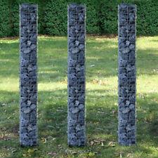 Gabionen 3er-Set, je 200cm x 25cm Gabione Steinkörbe Säulengabione Säule Gabion