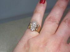 1.75 CT Diamond Cluster Cocktail Beautiful Women Ring 14K Yellow Gold Finish