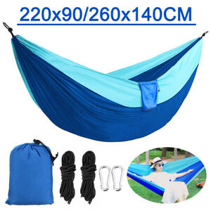 Double Person Travel Outdoor Hammock Camping Tent Swing Hanging Bed w/  J J