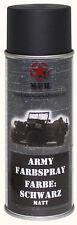 Mfh BW Esercito Army Vernice Spray colore Militare 400ml Bomboletta Contenitore Nero Ral9021