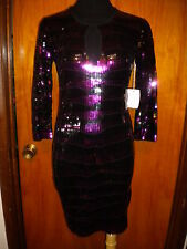 Victoria's Secret Moda International Cocktail Sequin Keyhole Sweater Dress S New