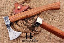 HUNTEX Custom Hand-Forged Carbon Steel 35 cm Long Walnut Wood Superb Viking Axe