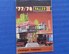 Faller -- Modellbau Jahres Katalog 1977/78, 3-sprachig, engl-franz-niederl.