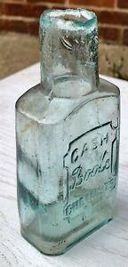 "Rarer 1895 ""Cash Boots Chemists"" Sheared Lip Quack Cure Bottle (G108)"