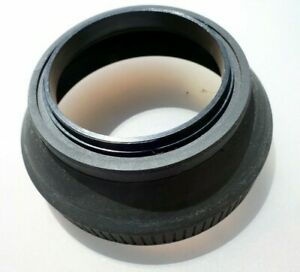 58mm Rubber Lens Hood Shade with double threads in the front for f1.7 f1.4