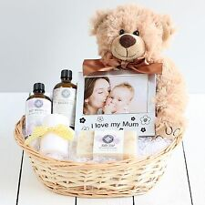 Pamper New Mum & Baby Gift Basket, Newborn Baby Hamper, Baby Shower Gift Ideas