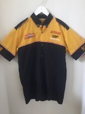 Vintage Miller Genuine Draft Racing Team Pit Crew Shirt Sz M Beer MGD Nascar