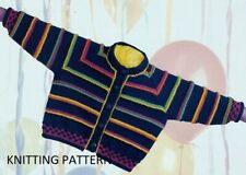 (439) Baby Cardigan COPY Knitting Pattern in DK yarn.  41 - 56 cm chest