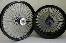 BLACK MAMMOTH FAT SPOKE WHEELS HARLEY 21x3.5 & 18x8.5 CHOPPER 250 TIRE