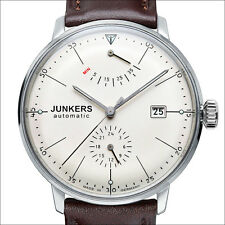 Junkers 40mm White Bauhaus Automatic with Power Reserve, 24hr. Sub-Dial #6060-5