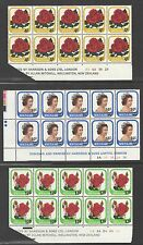 New Zealand 1979 Provisionals QEII and Roses Plate Blocks of 10 VF UMM MNH