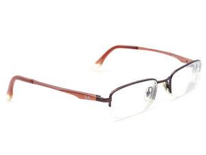 Ray Ban Eyeglasses RB 6133 2511 Brown Blush Half Rim Metal Frame 49[]19 140