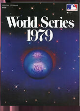 1979 World Series Program Pittsburgh Pirates Baltimore Orioles Baseball Game Vs