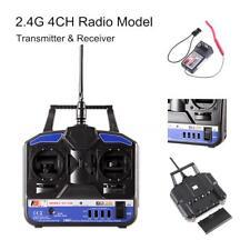 Flysky 2.4G FS-T4B 4 CH Channel Radio Control RC Transmitter Receiver V7T5