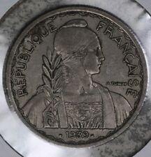 Nice Original 1939 France Indo-China 20 Centimes Coin!!