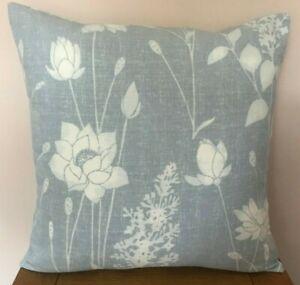 Laura Ashley *DRAGONFLY GARDEN* Linen  Cushion Cover in  Chalk Blue  40cm