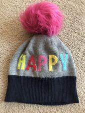 Gap Baby Girl Happy Beanie Multicolor Fleece Lined Size S/M