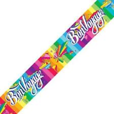 Bon Voyage Party Banner 270cm long repeats 3 times Brightly Coloured