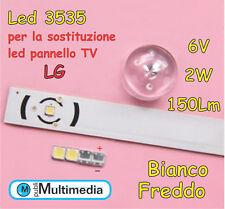 10 Led 3535 per retroilluminazione TV LG 2W 150LM 6V
