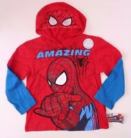 Spider-Man Long Sleeve Hoodie Red NWT Sizes 4,5,6,7