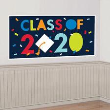 Graduation CONGRATS GRAD Wall Banner Backdrop 2020 Party Decoration NAVY BLUE