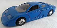 MAISTO SUPERCAR COLLECTION BUGATTI EB 110 CAR BLUE DIECAST 1/38 LOOSE