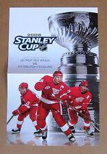 Detroit Red Wings 2008 Stanley Cup Program Insert Lidstrom, Datsyuk, Zetterberg