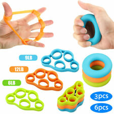 3/6pcs Finger Stretcher Hand Exercise Grip Strength Resistance Bands Training US