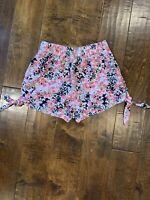 Women's Size Xs Aeropostale Bethany Mota Pink Floral Super Soft Cotton Shorts