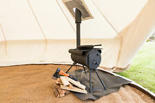 ULTIMATE 4M BELL TENT BUSHCRAFT WOOD BURNER BELL TENT PACKAGE