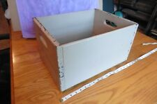 Vintage Wooden Shipping Crate bottle caddy box w/ handles painted pink ish mauve