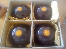 VINTAGE THOMAS TAYLOR CIRCA 1920s SIZE 5 WALNUT WOOD GRAIN BOWLING BOWLS (BOXED)