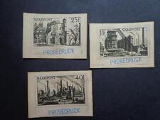 Germany old Saarpost Proofs -Essays Probedrucken? Nice Xx Rare set signed
