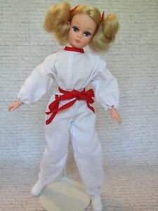 Vintage Action Girl Dollikin Uneeda Doll with Original Outfit Rare Soft Body