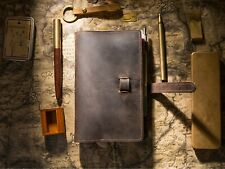 A5 Travel Journal | Handmade Genuine Leather Brown | Refillable Ringbinder